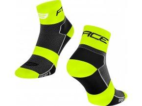 ponožky FORCE SPORT 3, černo-fluo