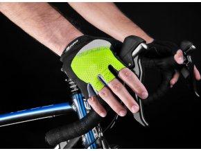 rukavice F DARTS gel bez zapínání,fluo-šedé