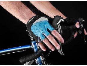 rukavice F DARTS gel bez zapínání,modro-šedé