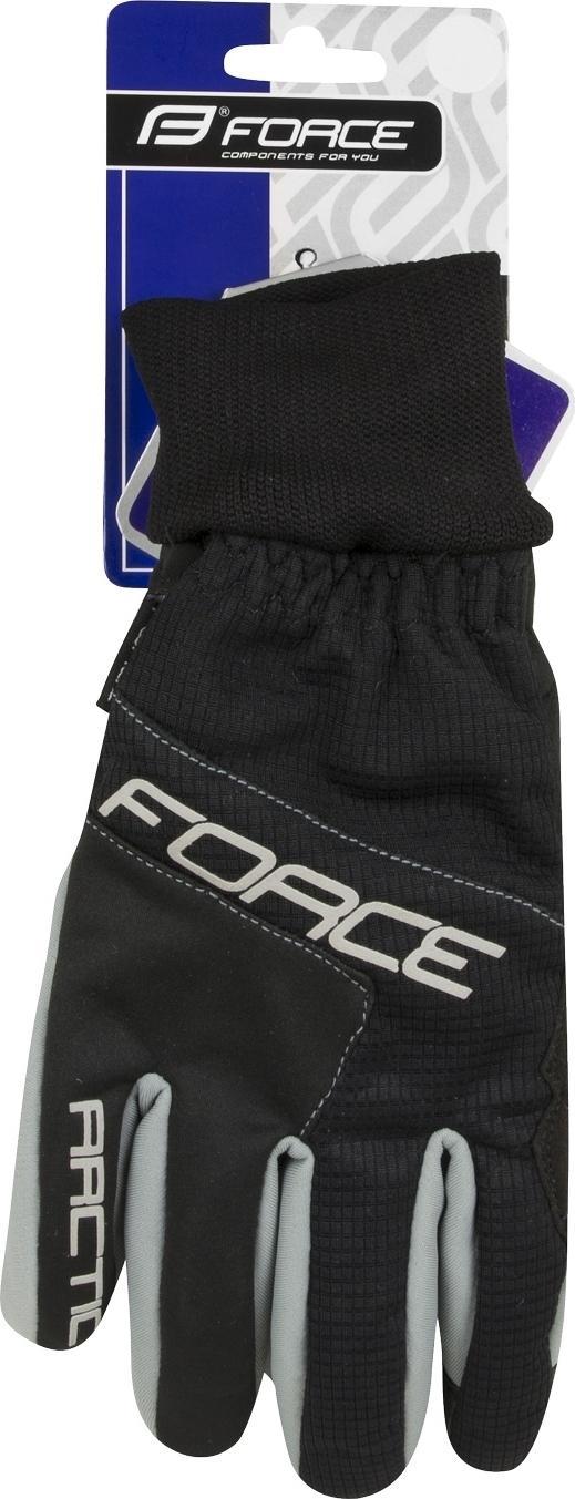 rukavice zimní FORCE ARTIC, černé Velikost: M
