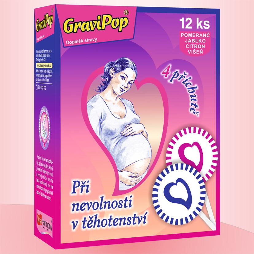 GraviPop®, směs příchutí - 12 lízátek