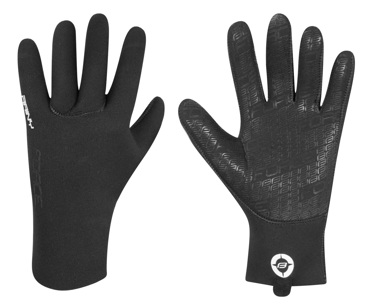 rukavice neoprénové FORCE RAINY, černé Velikost: M