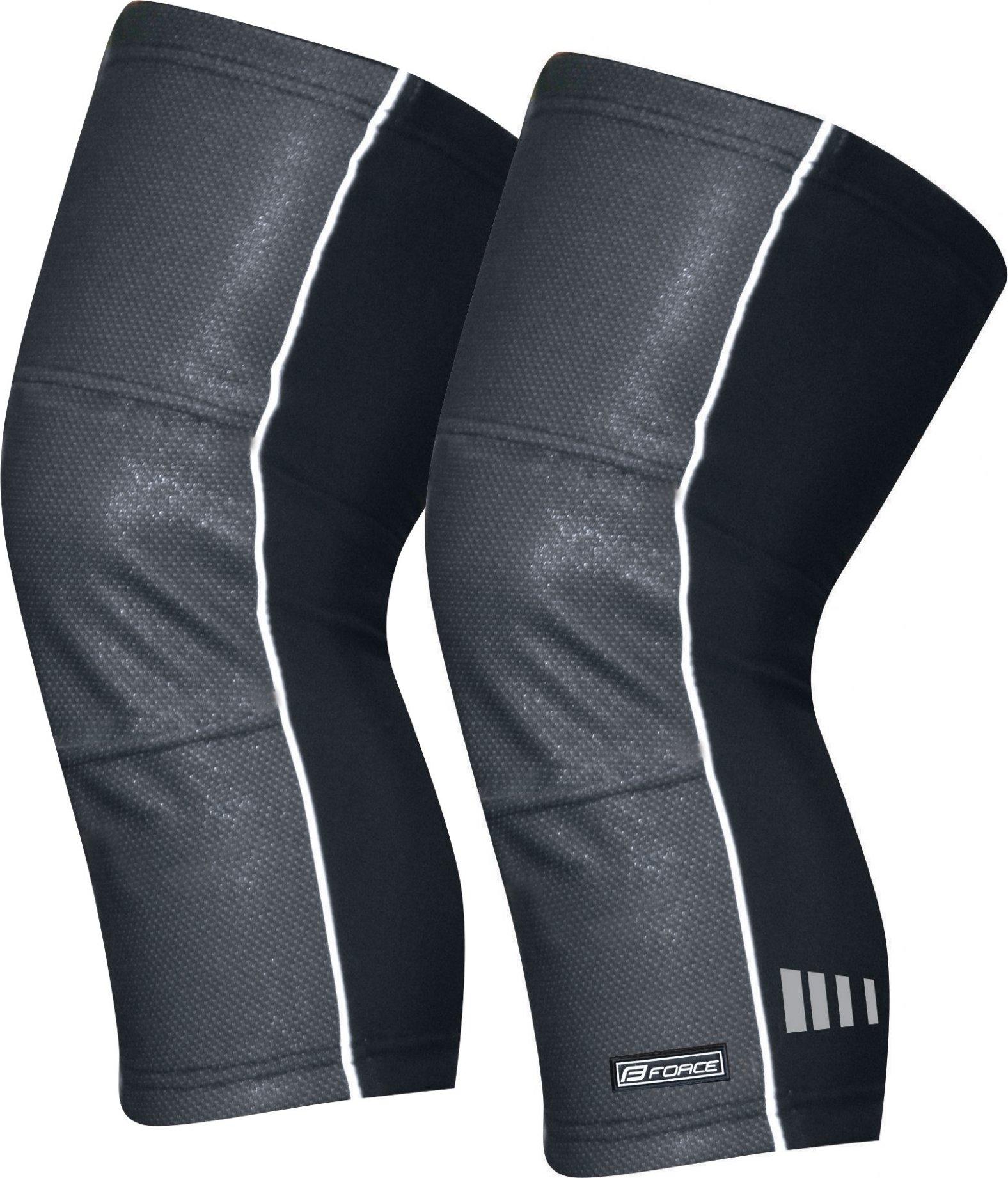 návleky na kolena FORCE WIND-X, černé Velikost: S