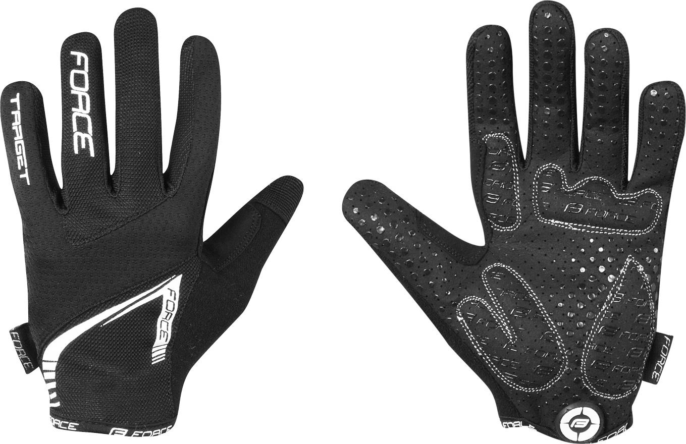 rukavice FORCE MTB TARGET letní, černé Velikost: M
