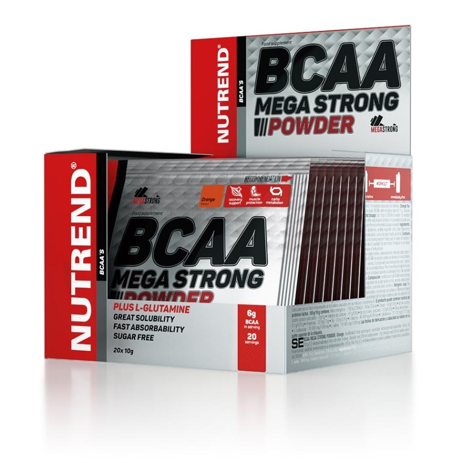 BCAA MEGA STRONG POWDER Hmotnost: 20x10g, Příchuť: ananas