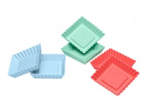 Lurch Flexiform silikonová sada 6ks mini koláček hranatý