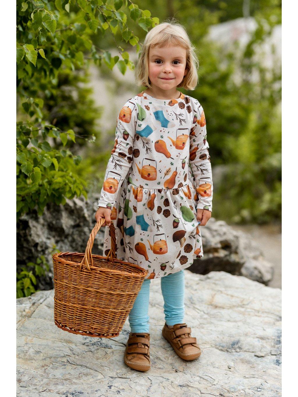 dětské stylové šaty s dlouhým rukávem