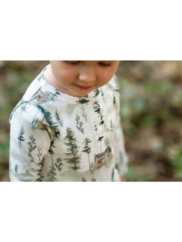 Bavlněné tričko s dlouhým rukávem Chata