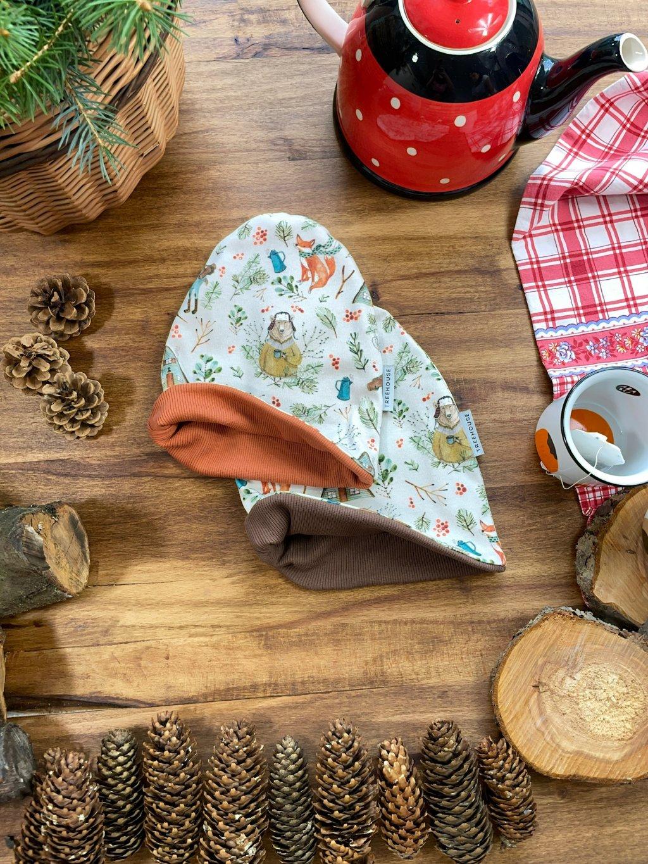 Dětská kulatá čepice  Horký čaj