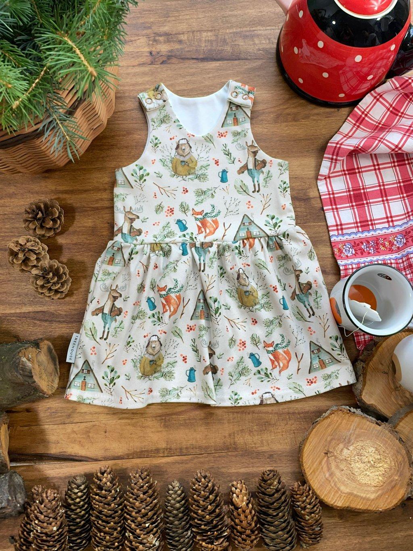 Dětské šaty na traky Horký čaj