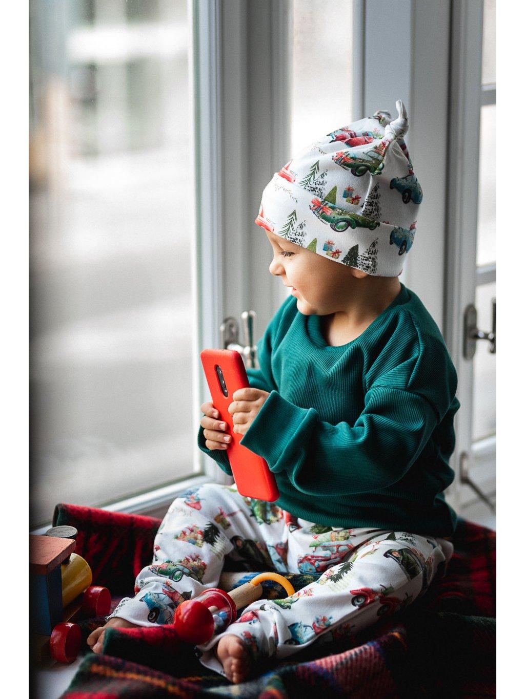 Bavlněné harémky/legíny Vánoční auta