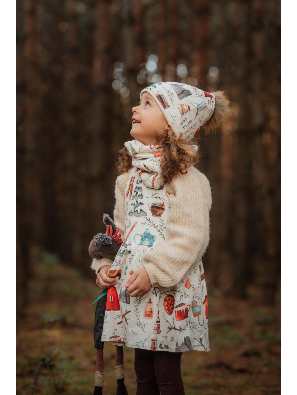 Dětské šaty na traky Vánoční auta