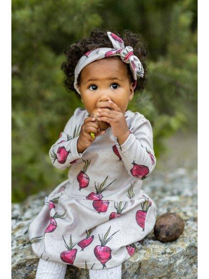 Dětské šaty s dlouhým rukávem