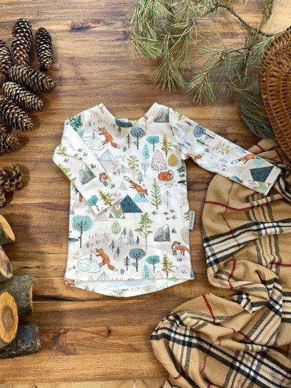 Bavlněné tričko s dlouhým rukávem Liščí dny