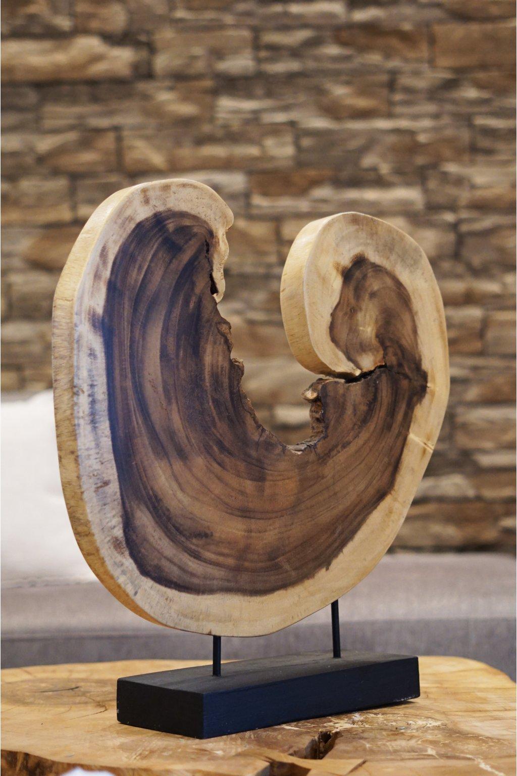 Velká exotická dekorace Heart Wood 60 cm