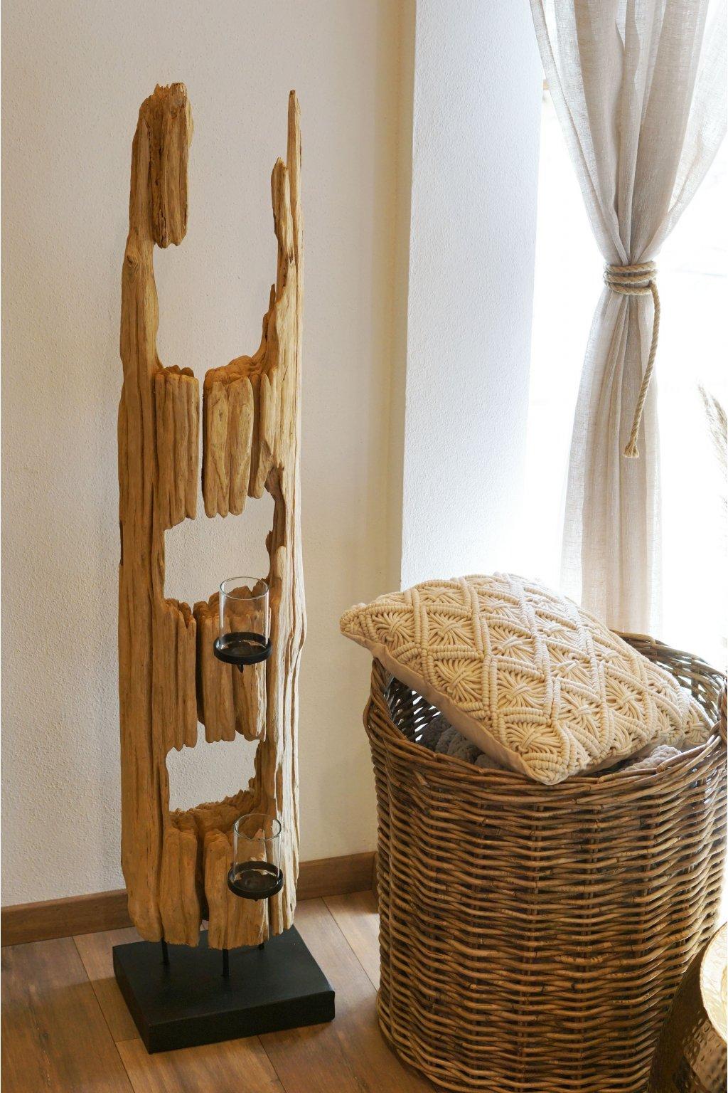 Teakový svícen PlankWood 130 cm