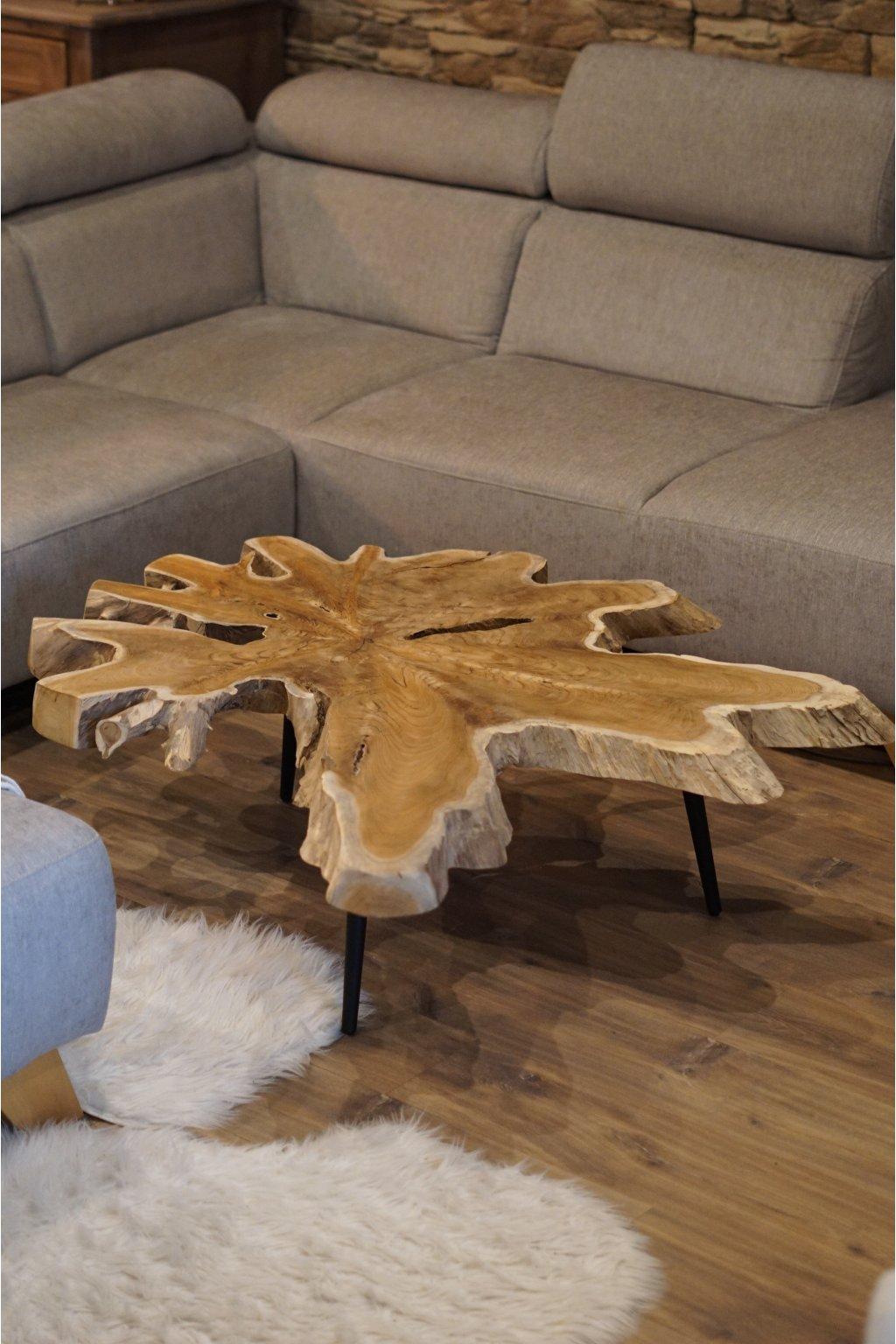 Exotický stůl Teak 120 cm