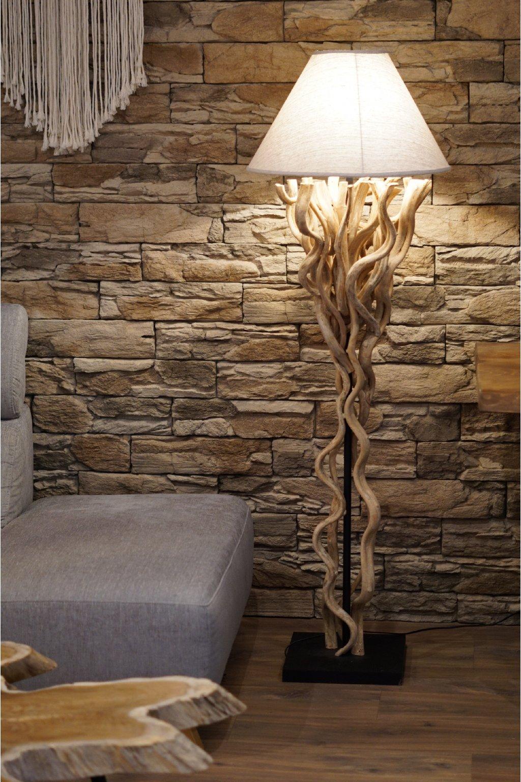 Exotická lampa z lián 160 cm