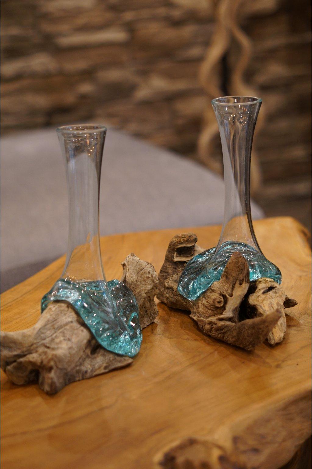 Teaková váza Liqva Slim Small