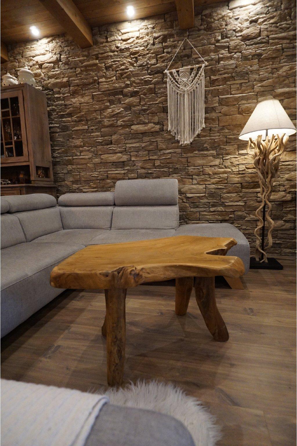 Masivní teakový stolek NATURAL