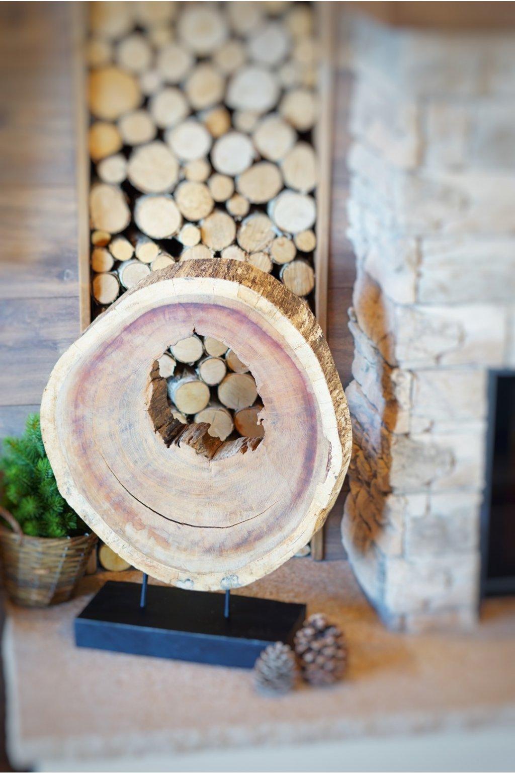Velká dekorace Circle Wood 70 cm