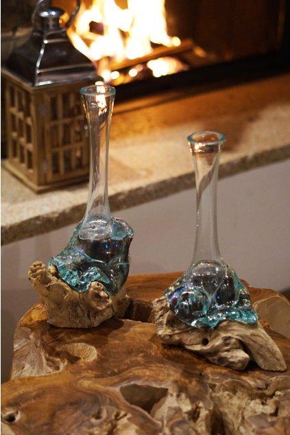Teaková váza Liqva Slim