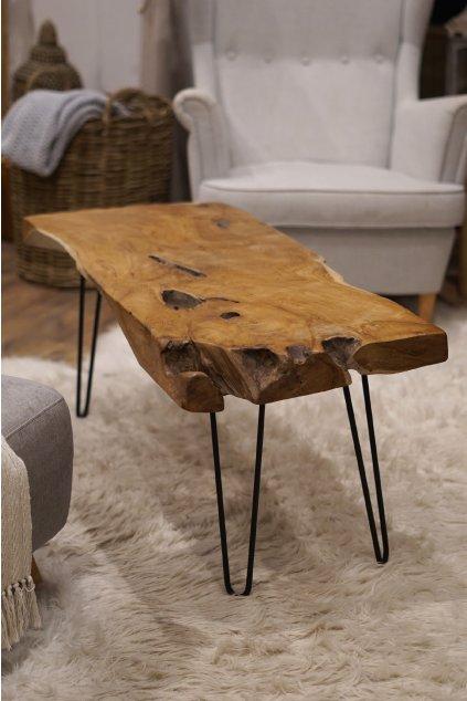 Masivní teakový stolek NATUR