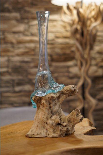 Teaková váza Liqva Slim BIG