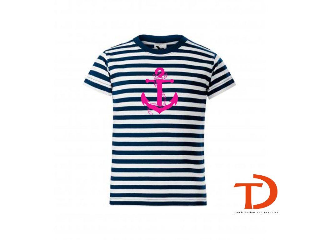 dětské námořnické triko dívčí