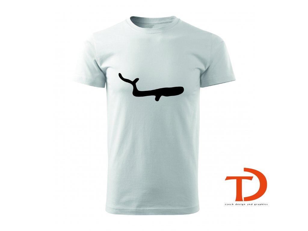 Tričko pravěké umění - velryba