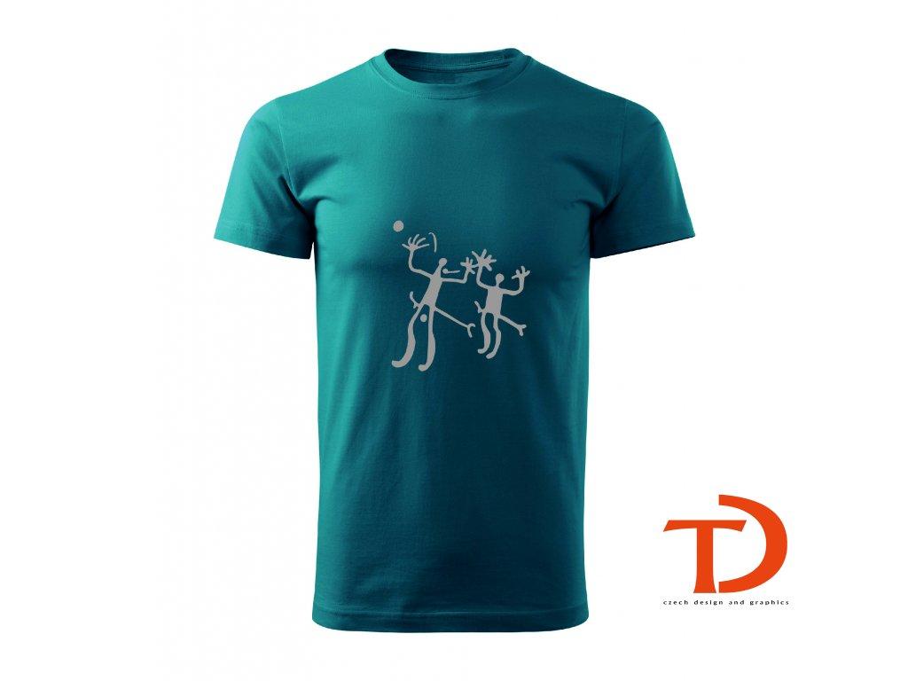 Tričko pravěké umění -  bojící se bojovníci