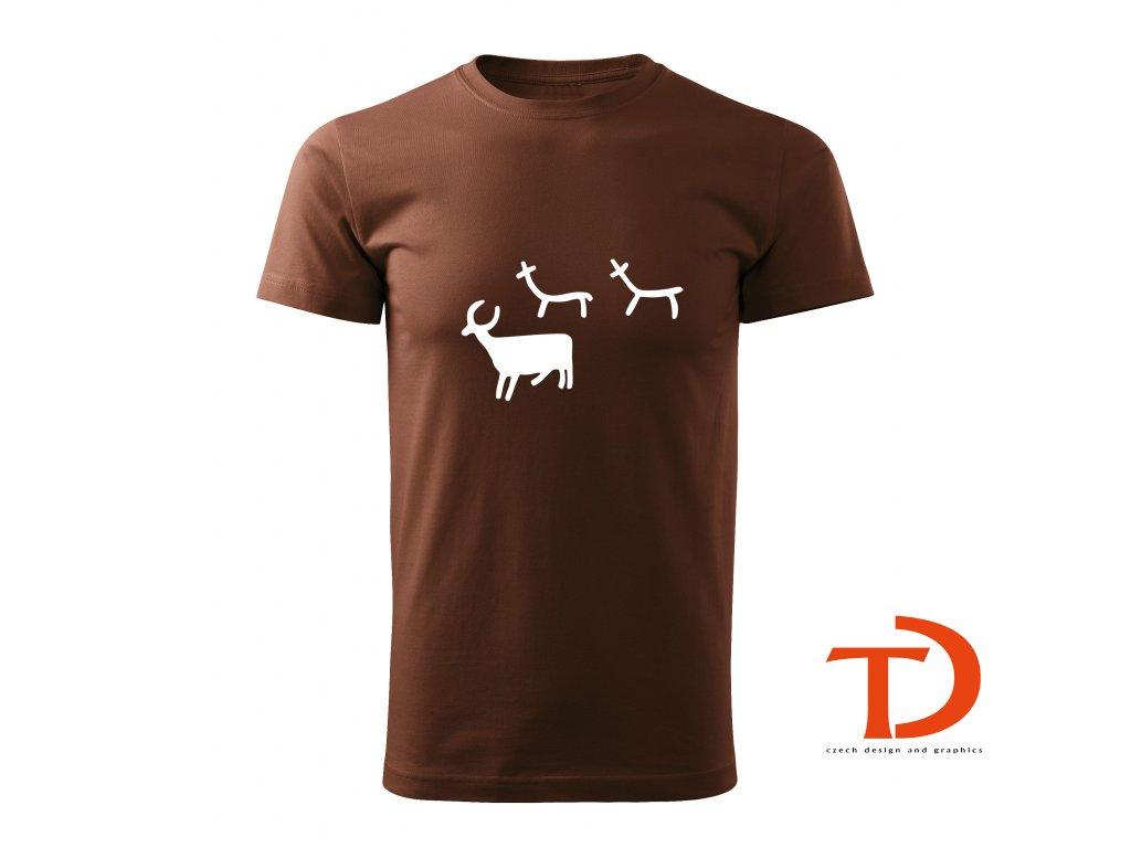 Tričko pravěké umění - zvířátka
