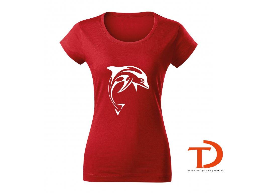 Dámské tričko Delfín