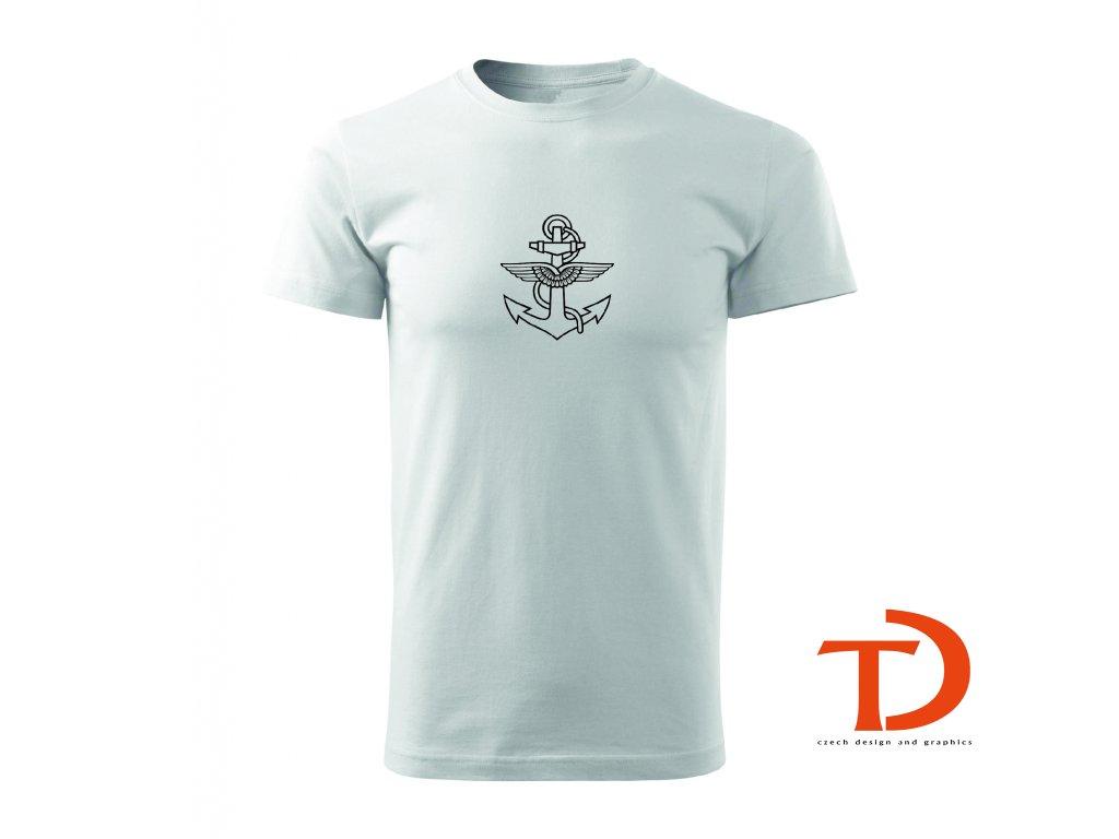Tričko s kotvou znak vzduchoplavby
