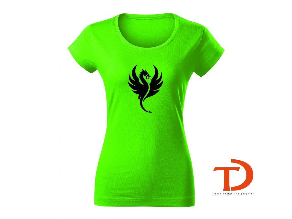 Dámské tričko s drakem