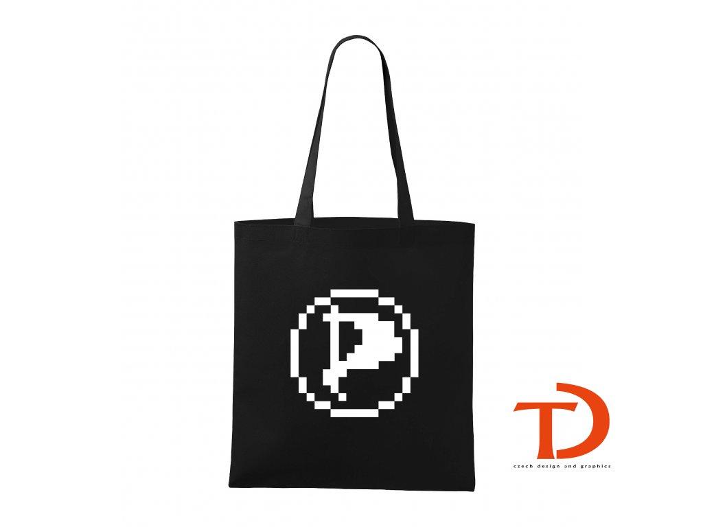 Taška Piráti logo PIXEL