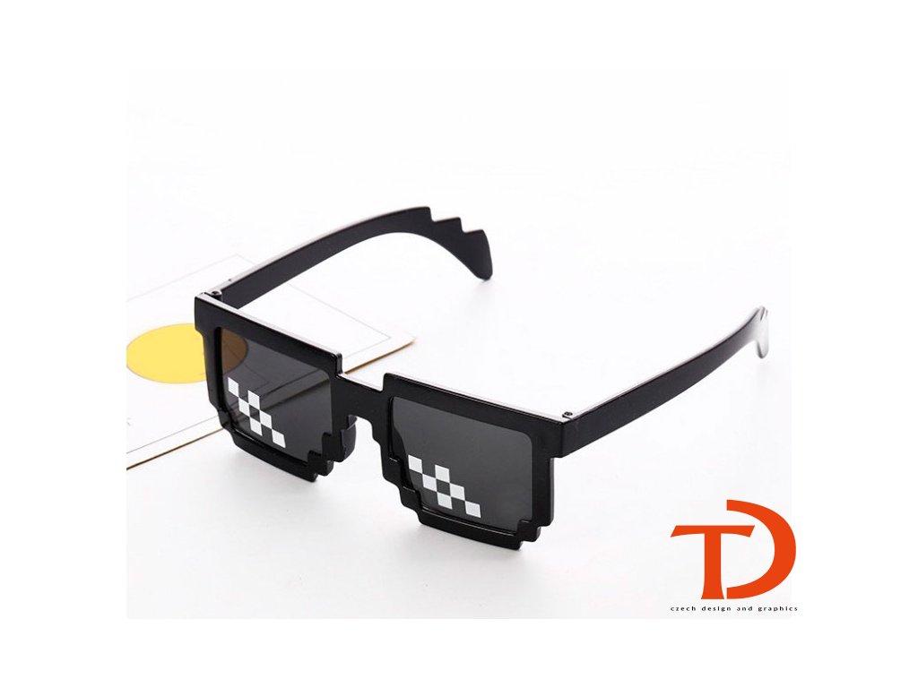 brýle pixel černé