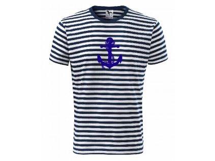 námořnické triko s kotvou modré
