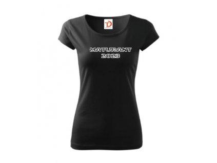 Tričko Maturant 2021 - dámské (Barva textilu Růžová, Velikost oblečení 2XL)