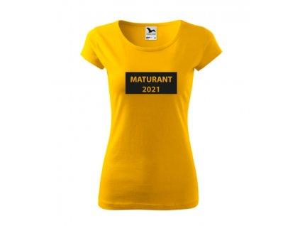 Tričko Maturant 2021 tabule - dámské (Barva textilu Bílá, Velikost oblečení 2XL)