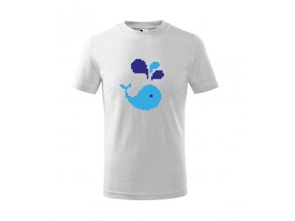 Dětské tričko s velrybou - pixel art