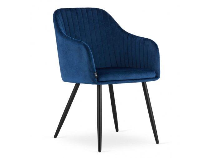 Sametová židle Madrid modrá