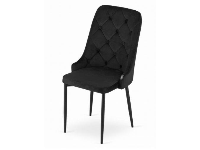 Sametová židle Dublin černá