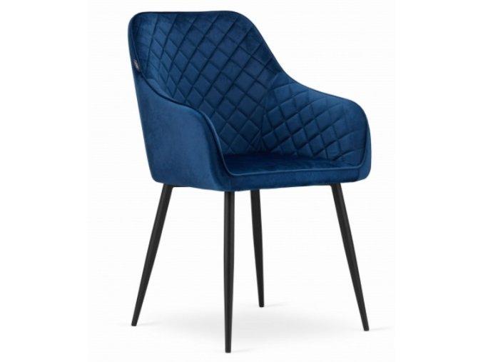 Sametová židle Budapest modrá
