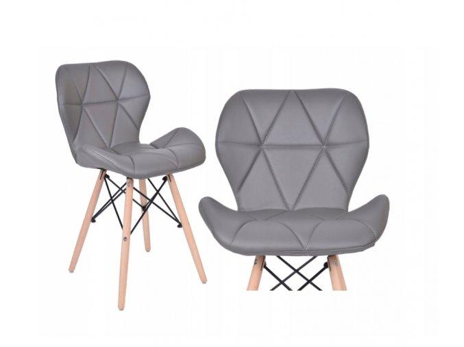 Jídelní židle EKO tmavě šedá