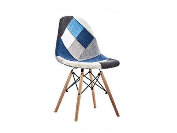 Jidelní židle PATCHWORK_modrá