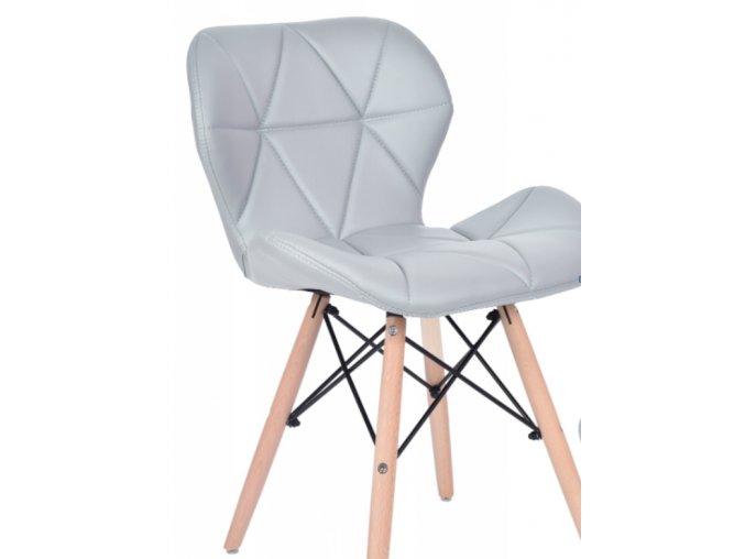 Jídelní židle EKO světle šedá