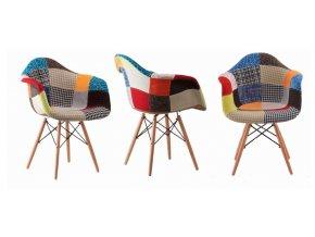 Jídelní židle Wave Patchwork Sindy 4 ks
