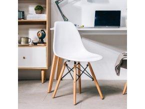 Jídelní židle BASIC bílá