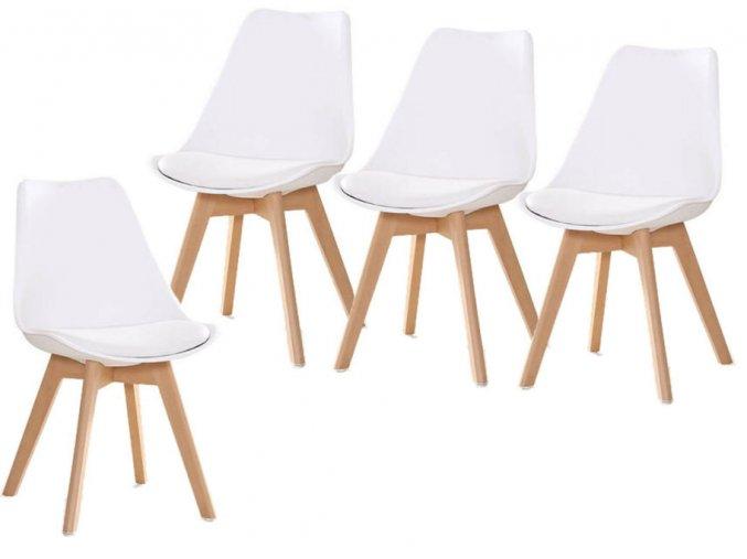 Jedálenská stolička SCANDI biela